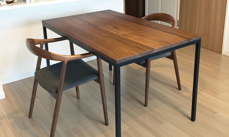 オーダー家具/オーダーテーブル アイアン脚