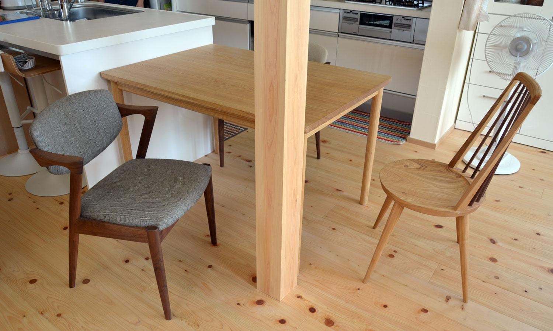オーダー家具/タモ材オーダーテーブル