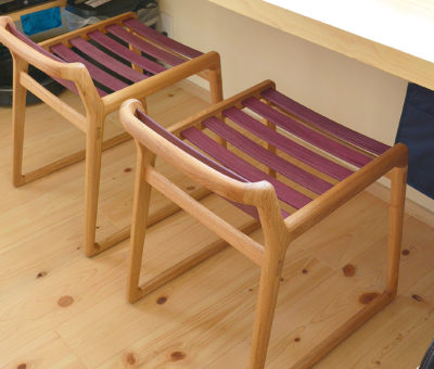 comodo stool / 別注タモ