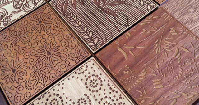 伝統紋様のレリーフパネル