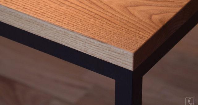 オーダーテーブル/クリ無垢材+アイアン脚
