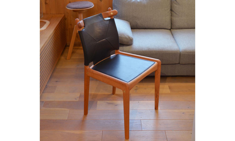 宮崎椅子/Sail/ブラックチェリー材+ブラックレザー