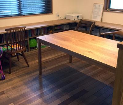 オーダーテーブル / クルミ無垢材