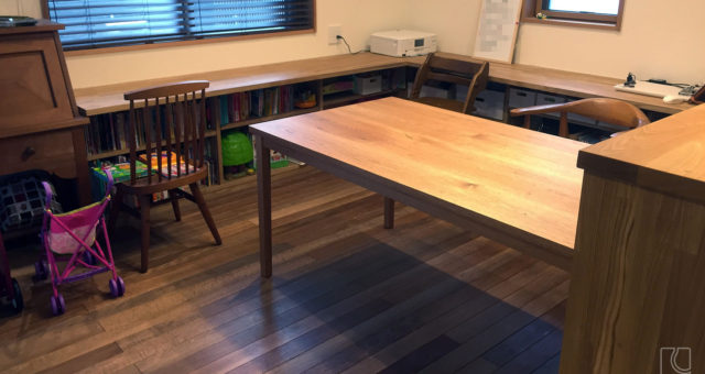 クルミ材オーダーテーブル