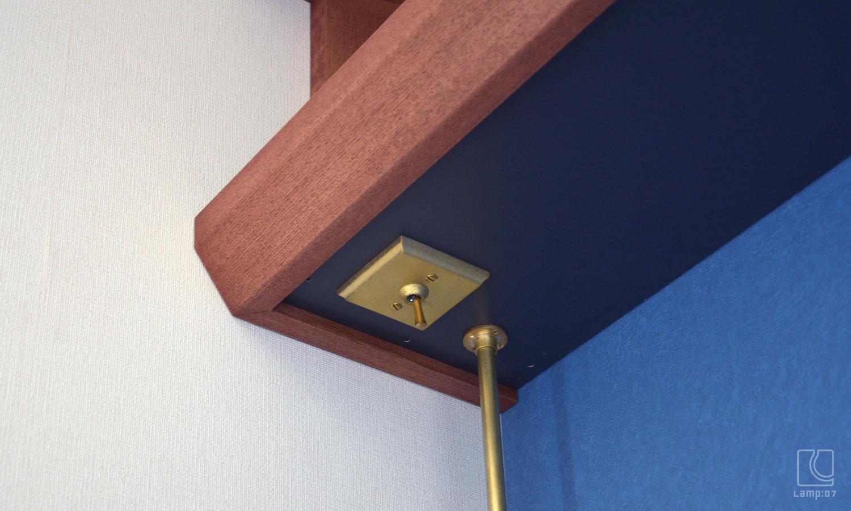 オーダー造作吊り棚(真鍮スイッチ付き)