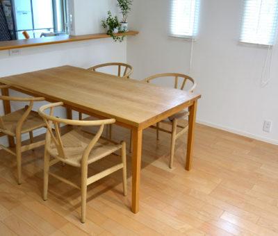 オーダーダイニングテーブル / ナラ無垢材